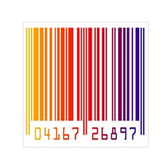Colorful Gradient Barcode Small Satin Scarf (square) by Simbadda