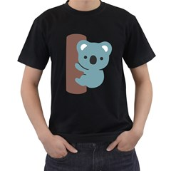 Animal Koala Men s T Shirt (black) (two Sided)