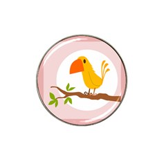 Yellow Bird Tweet Hat Clip Ball Marker (10 Pack) by Alisyart