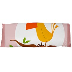 Yellow Bird Tweet Body Pillow Case (dakimakura) by Alisyart