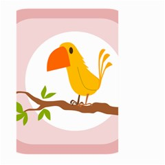 Yellow Bird Tweet Large Garden Flag (two Sides) by Alisyart