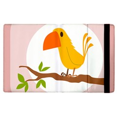Yellow Bird Tweet Apple Ipad 2 Flip Case by Alisyart