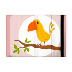Yellow Bird Tweet Apple Ipad Mini Flip Case by Alisyart