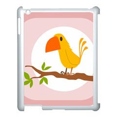 Yellow Bird Tweet Apple Ipad 3/4 Case (white)