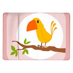 Yellow Bird Tweet Samsung Galaxy Tab 10 1  P7500 Flip Case