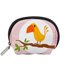 Yellow Bird Tweet Accessory Pouches (small)  by Alisyart