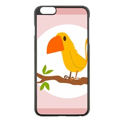 Yellow Bird Tweet Apple Iphone 6 Plus/6s Plus Black Enamel Case by Alisyart