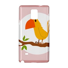 Yellow Bird Tweet Samsung Galaxy Note 4 Hardshell Case