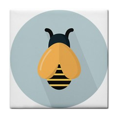 Animals Bee Wasp Black Yellow Fly Tile Coasters