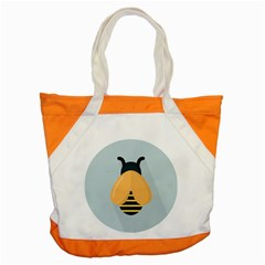 Animals Bee Wasp Black Yellow Fly Accent Tote Bag by Alisyart