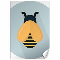 Animals Bee Wasp Black Yellow Fly Canvas 20  X 30   by Alisyart