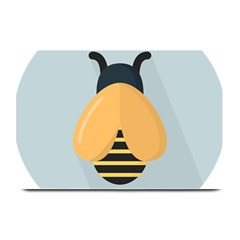 Animals Bee Wasp Black Yellow Fly Plate Mats