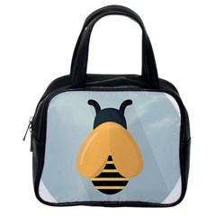 Animals Bee Wasp Black Yellow Fly Classic Handbags (one Side)