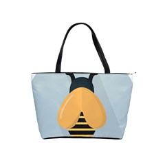 Animals Bee Wasp Black Yellow Fly Shoulder Handbags by Alisyart
