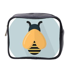 Animals Bee Wasp Black Yellow Fly Mini Toiletries Bag 2 Side by Alisyart
