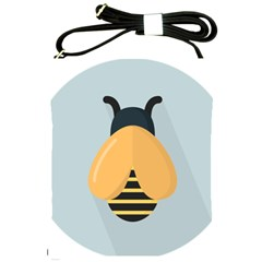 Animals Bee Wasp Black Yellow Fly Shoulder Sling Bags