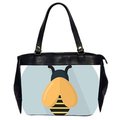 Animals Bee Wasp Black Yellow Fly Office Handbags (2 Sides)