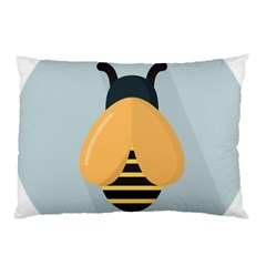 Animals Bee Wasp Black Yellow Fly Pillow Case (two Sides) by Alisyart