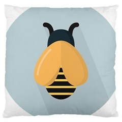 Animals Bee Wasp Black Yellow Fly Large Cushion Case (two Sides) by Alisyart