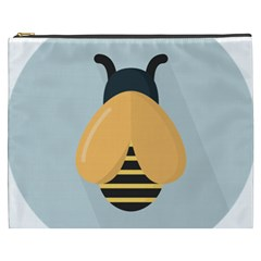 Animals Bee Wasp Black Yellow Fly Cosmetic Bag (xxxl)