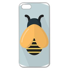 Animals Bee Wasp Black Yellow Fly Apple Seamless Iphone 5 Case (clear)