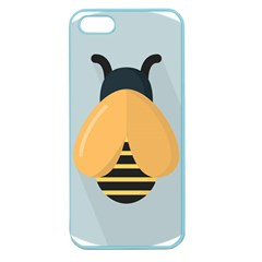 Animals Bee Wasp Black Yellow Fly Apple Seamless Iphone 5 Case (color)