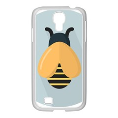 Animals Bee Wasp Black Yellow Fly Samsung Galaxy S4 I9500/ I9505 Case (white)
