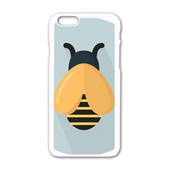 Animals Bee Wasp Black Yellow Fly Apple Iphone 6/6s White Enamel Case by Alisyart