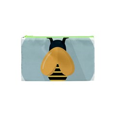 Animals Bee Wasp Black Yellow Fly Cosmetic Bag (xs)