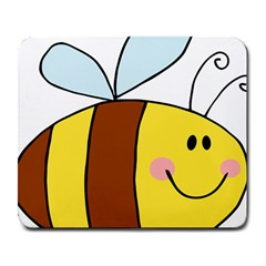 Animals Bee Wasp Smile Face Large Mousepads by Alisyart