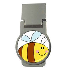 Animals Bee Wasp Smile Face Money Clips (round)
