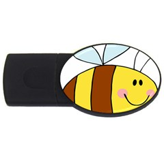 Animals Bee Wasp Smile Face Usb Flash Drive Oval (4 Gb) by Alisyart