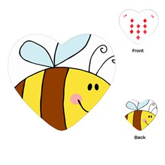 Animals Bee Wasp Smile Face Playing Cards (heart)