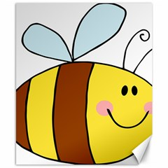 Animals Bee Wasp Smile Face Canvas 8  X 10  by Alisyart