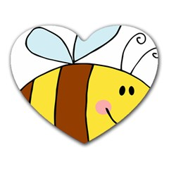 Animals Bee Wasp Smile Face Heart Mousepads by Alisyart