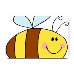 Animals Bee Wasp Smile Face Small Doormat