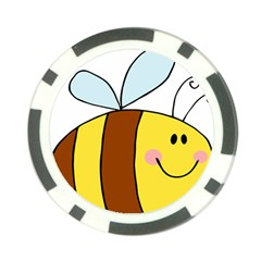 Animals Bee Wasp Smile Face Poker Chip Card Guard (10 Pack) by Alisyart