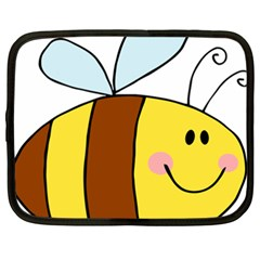 Animals Bee Wasp Smile Face Netbook Case (xxl)