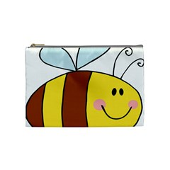 Animals Bee Wasp Smile Face Cosmetic Bag (medium)  by Alisyart
