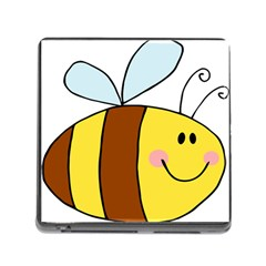 Animals Bee Wasp Smile Face Memory Card Reader (square) by Alisyart