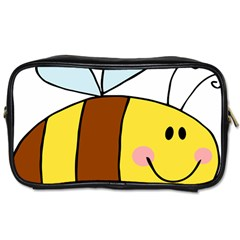 Animals Bee Wasp Smile Face Toiletries Bags
