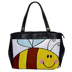 Animals Bee Wasp Smile Face Office Handbags by Alisyart