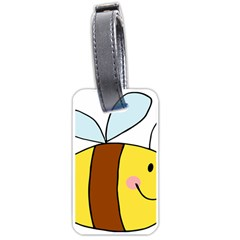 Animals Bee Wasp Smile Face Luggage Tags (one Side)