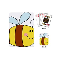 Animals Bee Wasp Smile Face Playing Cards (mini)