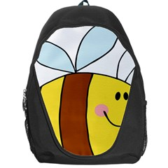 Animals Bee Wasp Smile Face Backpack Bag by Alisyart