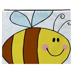 Animals Bee Wasp Smile Face Cosmetic Bag (xxxl)