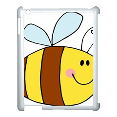 Animals Bee Wasp Smile Face Apple Ipad 3/4 Case (white)