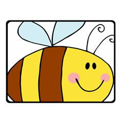 Animals Bee Wasp Smile Face Double Sided Fleece Blanket (small)