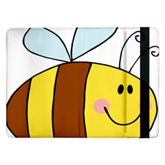 Animals Bee Wasp Smile Face Samsung Galaxy Tab Pro 12 2  Flip Case by Alisyart