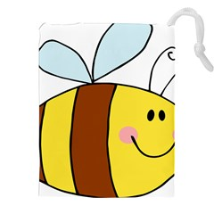Animals Bee Wasp Smile Face Drawstring Pouches (xxl) by Alisyart